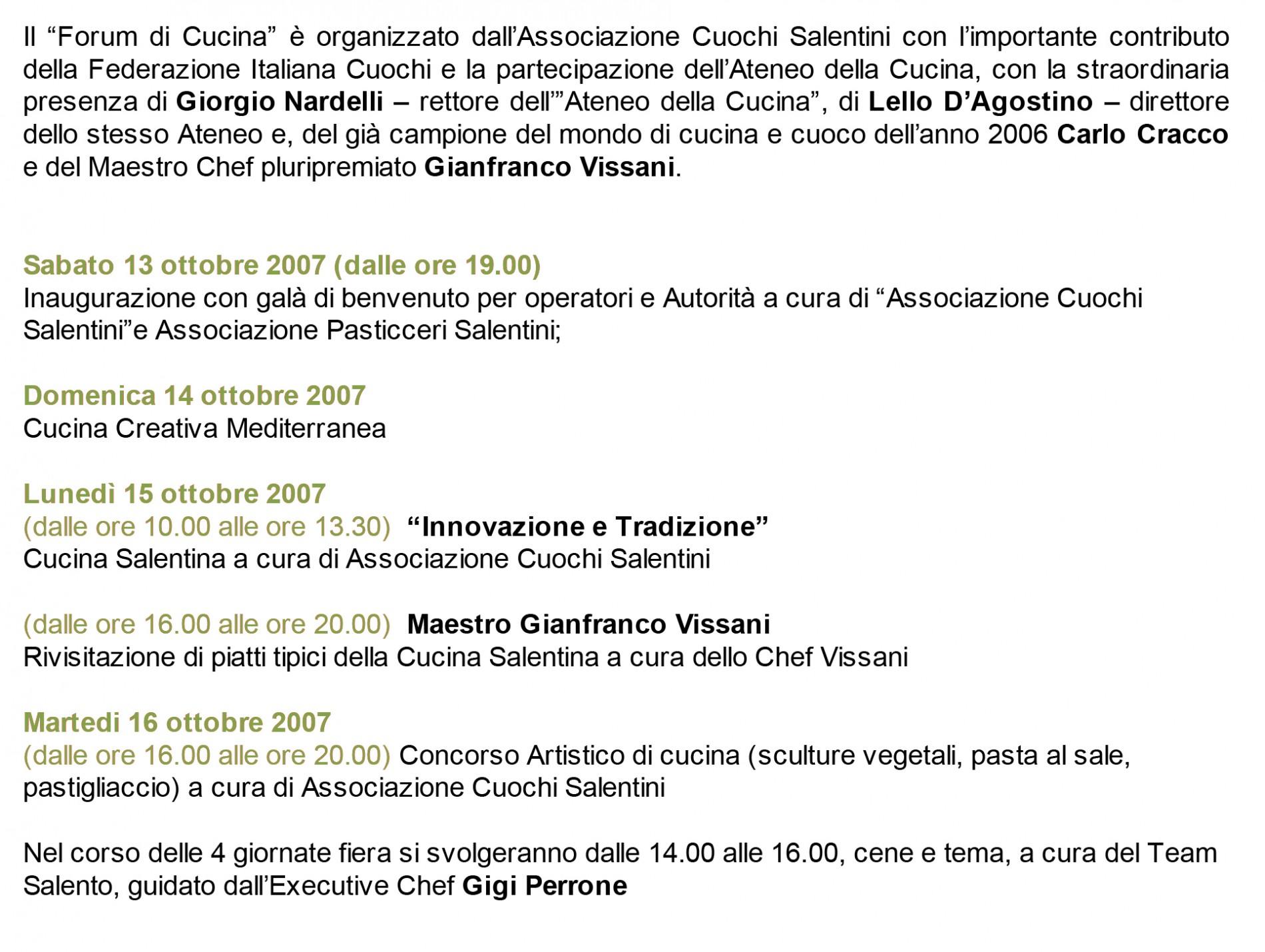 Forum CUCINA2007-1