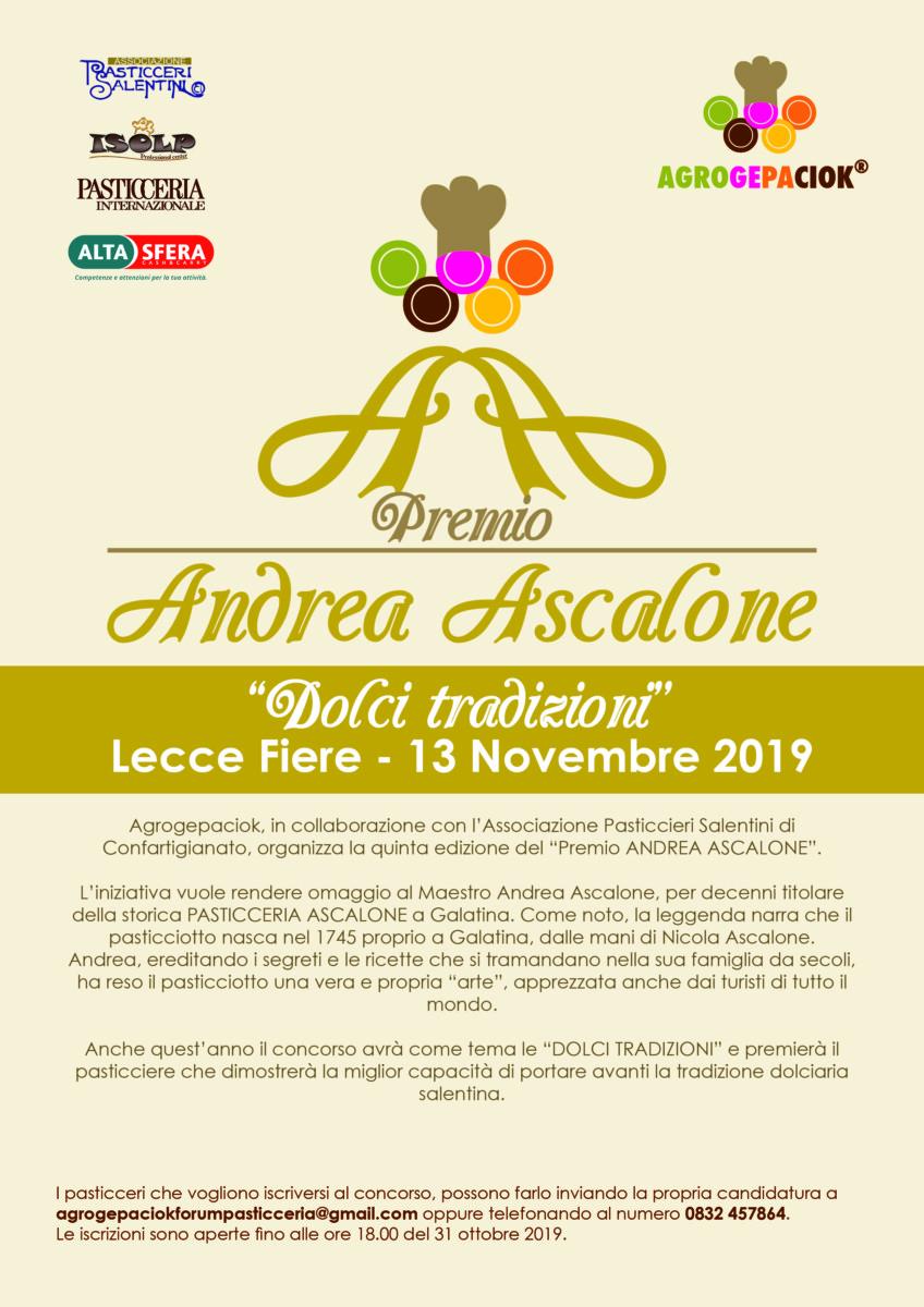 Premio Andrea Ascalone - Dolci Tradizioni